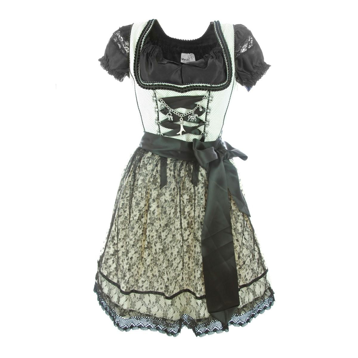 mini dirndl janina in creme schwarz von marjo trachten ebay. Black Bedroom Furniture Sets. Home Design Ideas