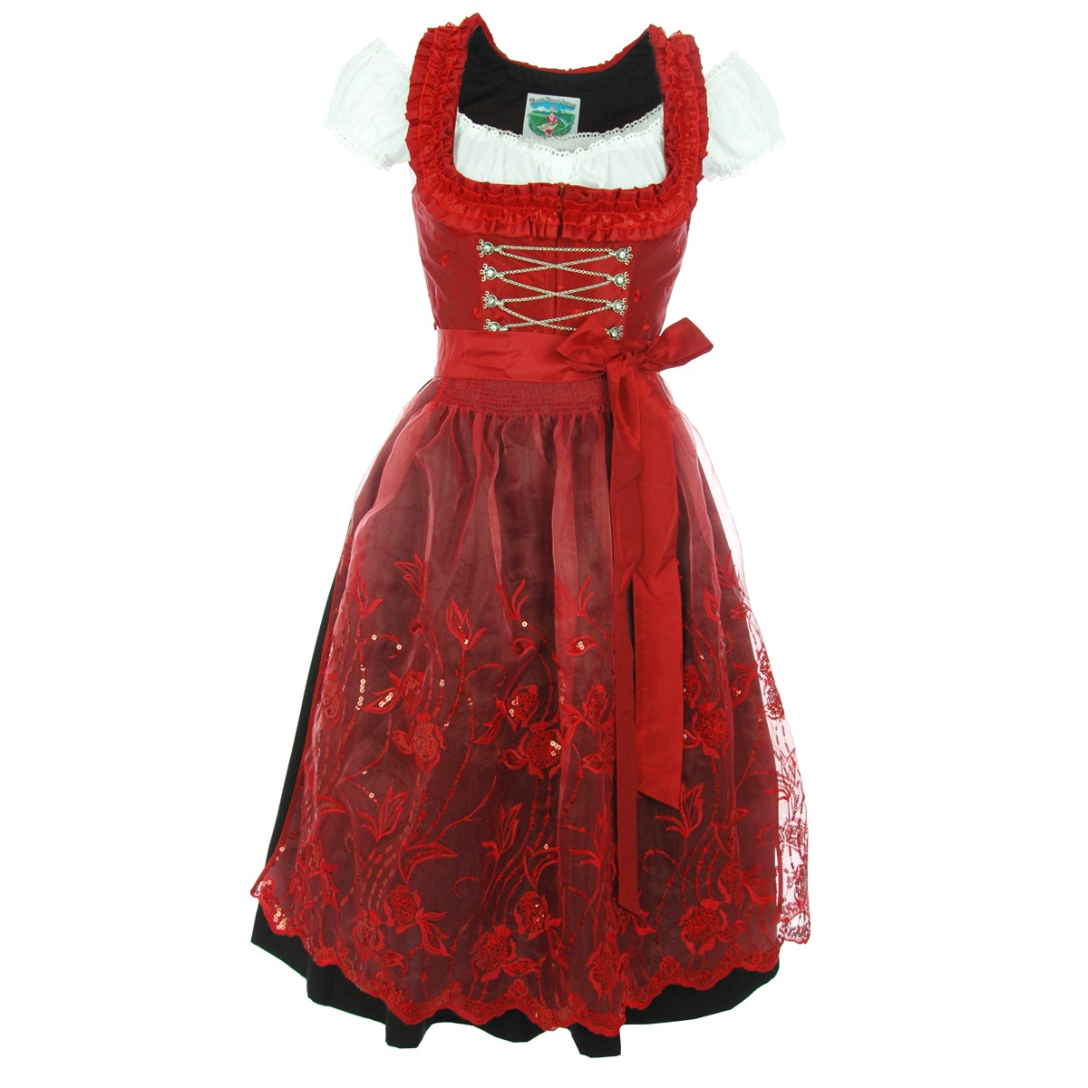 midi dirndl nina in rot von turi landhausmode ebay. Black Bedroom Furniture Sets. Home Design Ideas