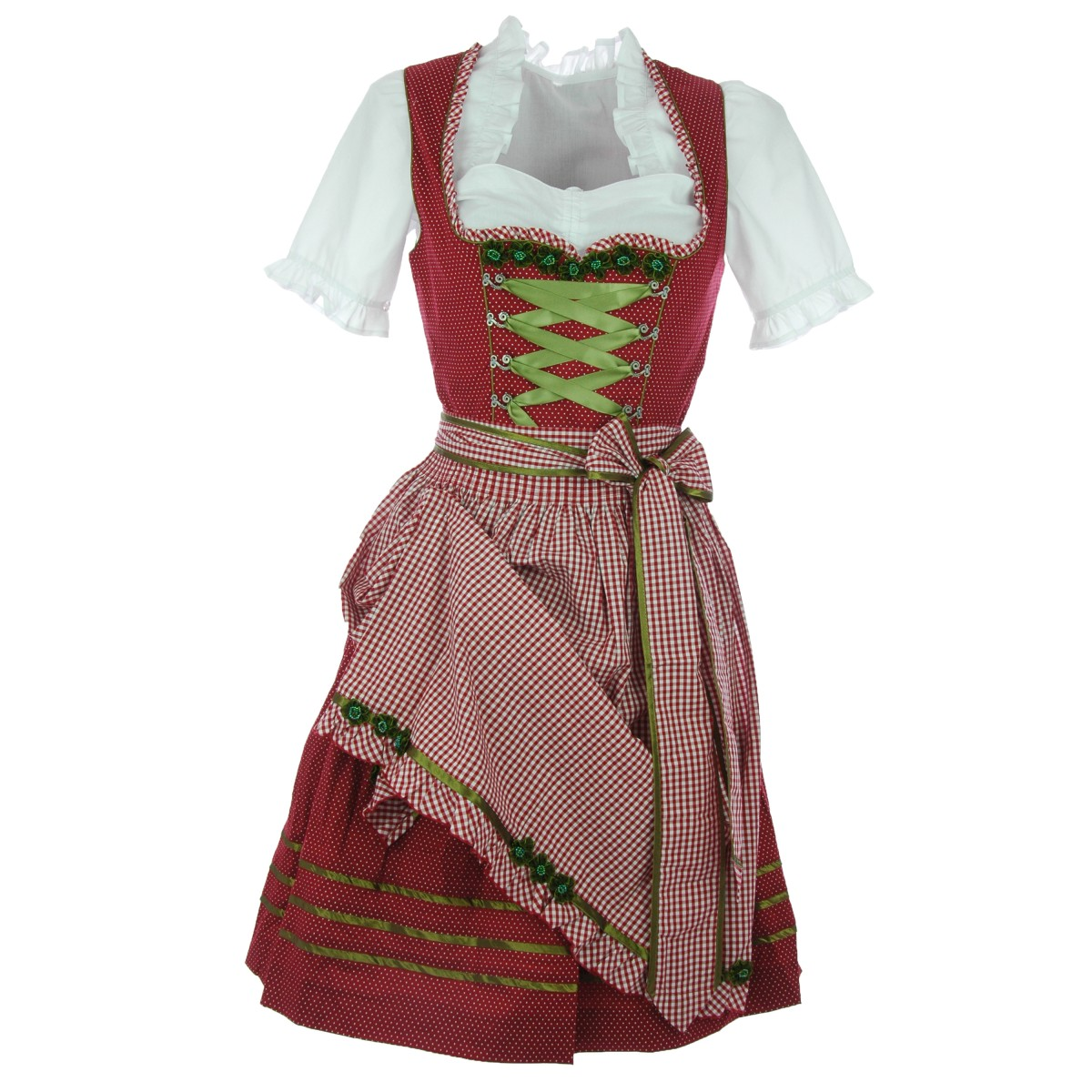 midi dirndl lena in rot von kr ger dirndl ebay. Black Bedroom Furniture Sets. Home Design Ideas