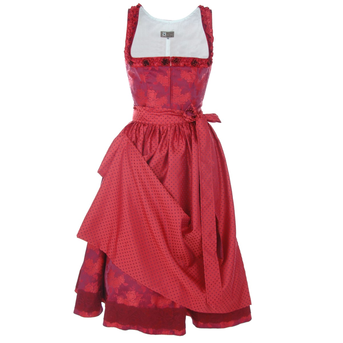 Midi Dirndl Princess von Apple of my Eye in rot