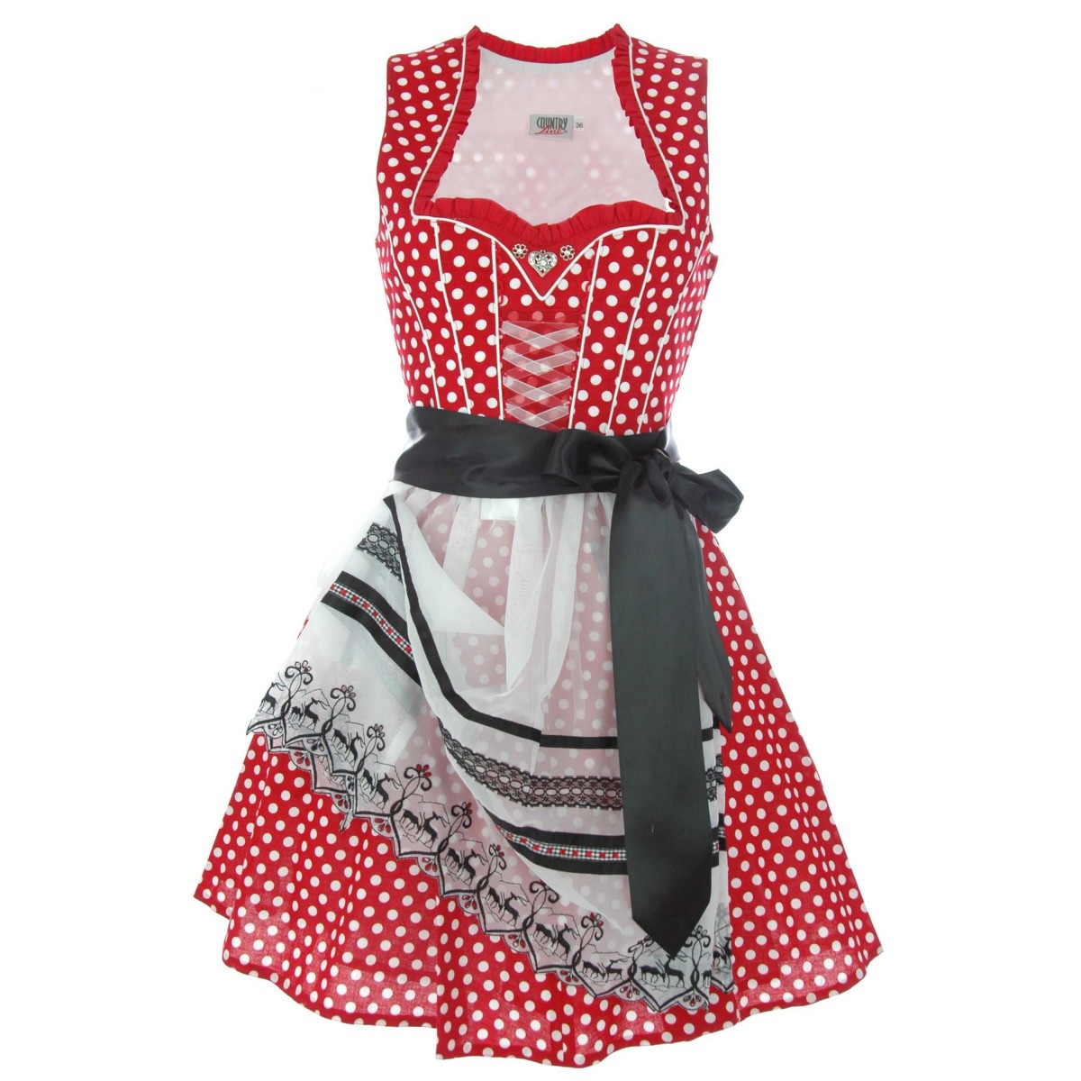 Mini Dirndl Felicitas in rot