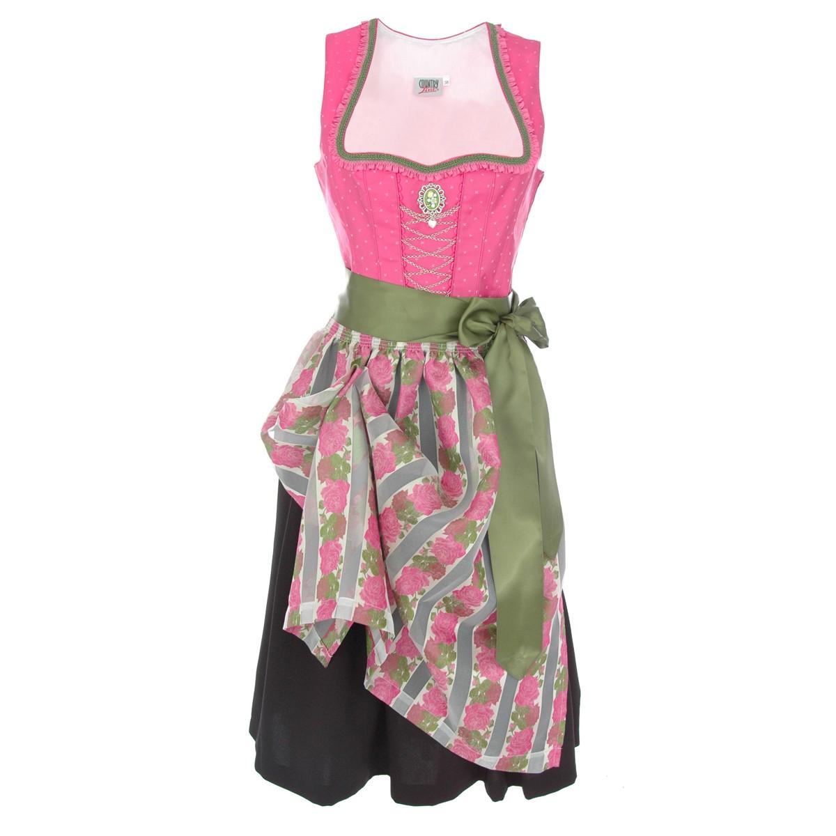 midi dirndl betlindis in pink von country line ebay. Black Bedroom Furniture Sets. Home Design Ideas