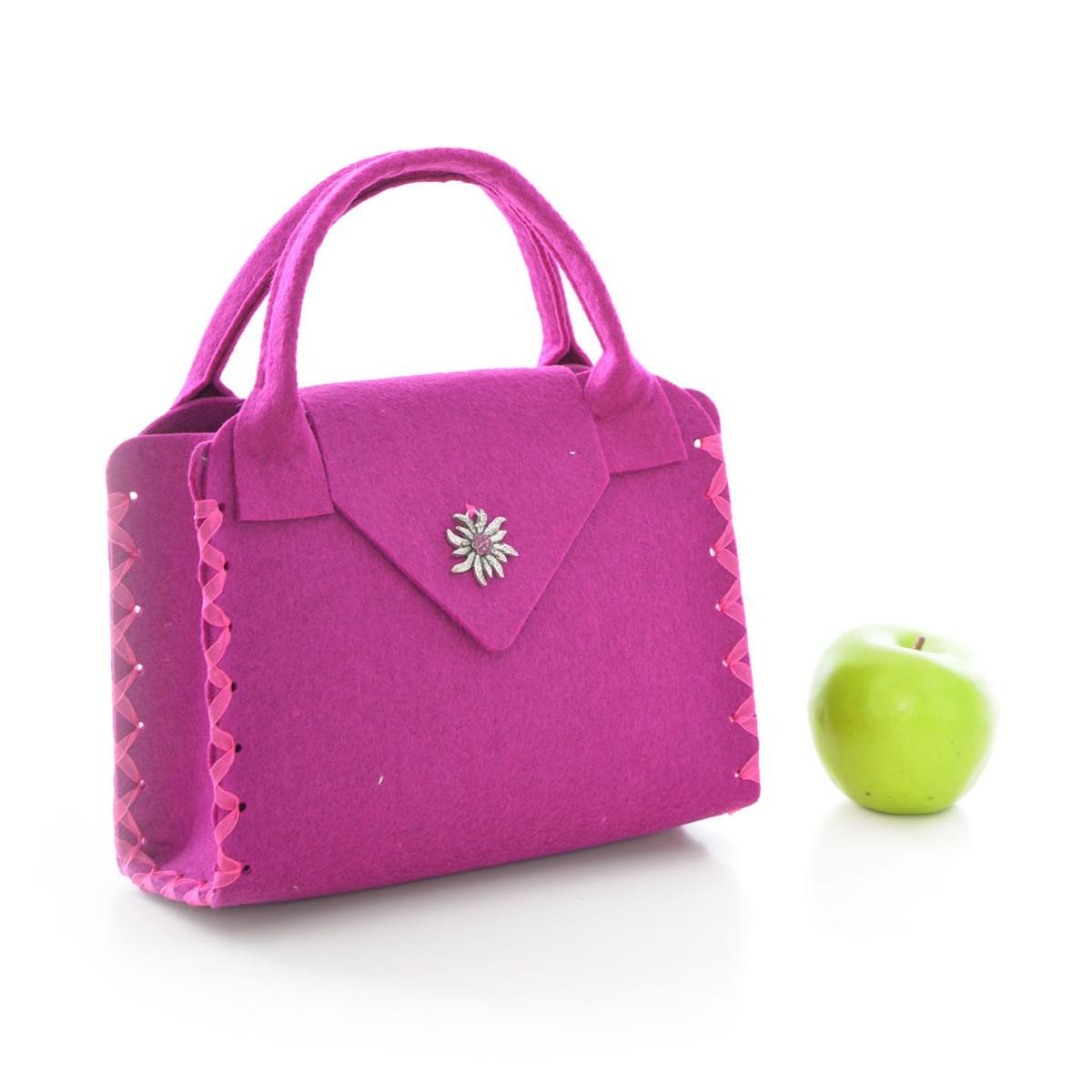 Süße Trachtentasche zum Dirndl in Lila von Die Dirndltasche  eBay
