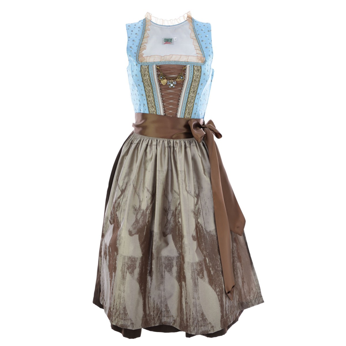 midi dirndl emma in hellblau von country line ebay. Black Bedroom Furniture Sets. Home Design Ideas