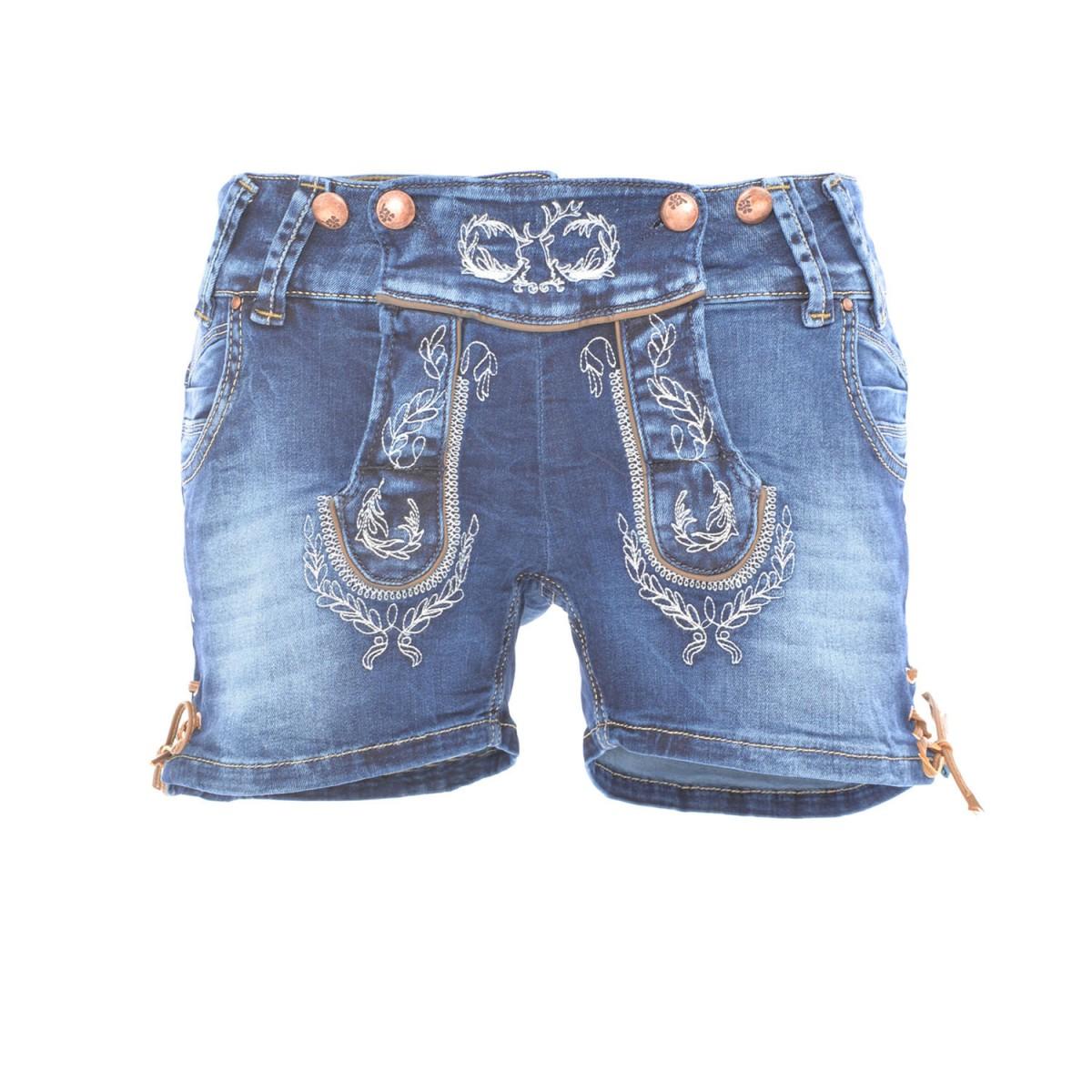 gennadi hoppe damen trachten shorts lederhosen stil kurz oktoberfest trachtenshorts 42 braun. Black Bedroom Furniture Sets. Home Design Ideas