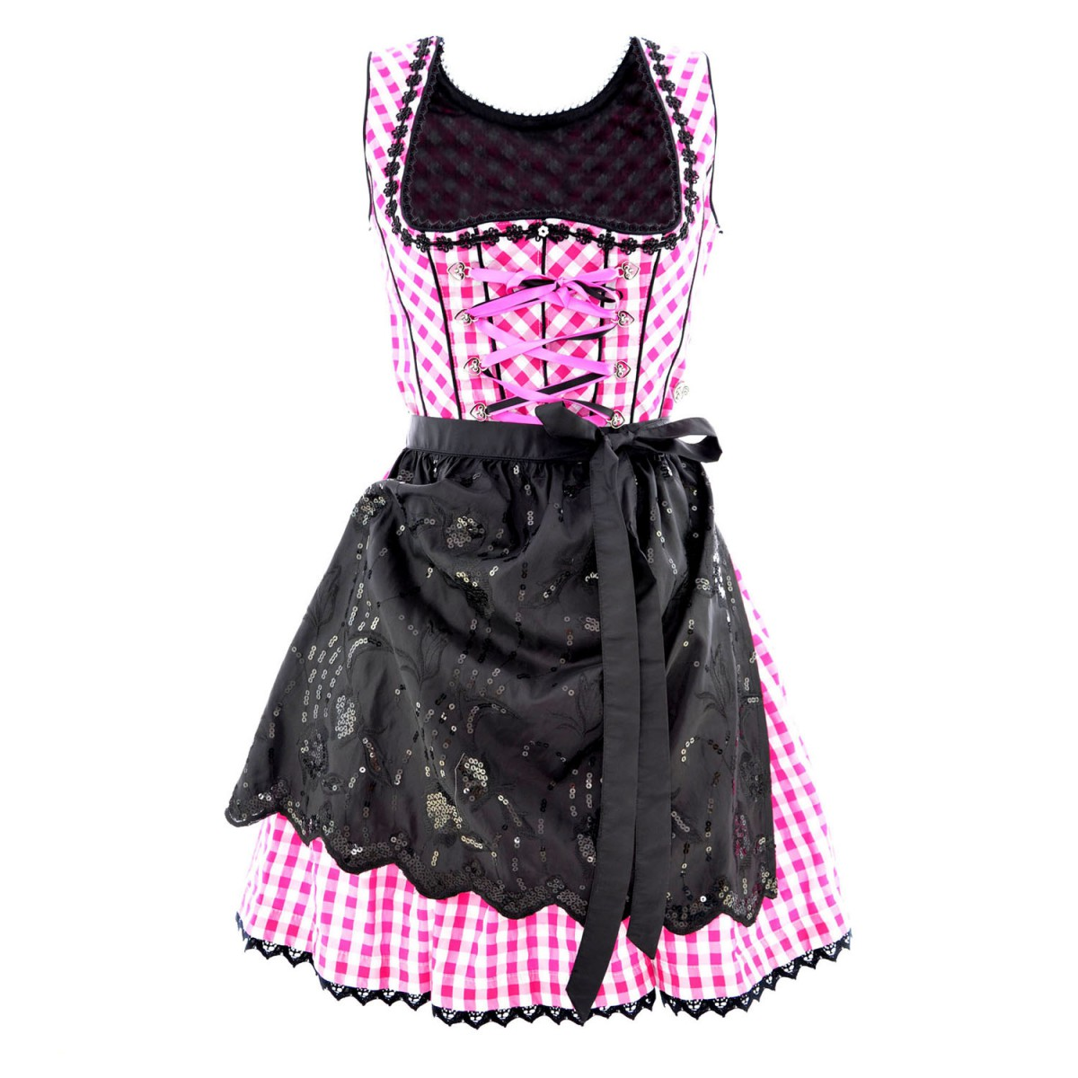 mini dirndl linda in pink von marjo trachten ebay. Black Bedroom Furniture Sets. Home Design Ideas