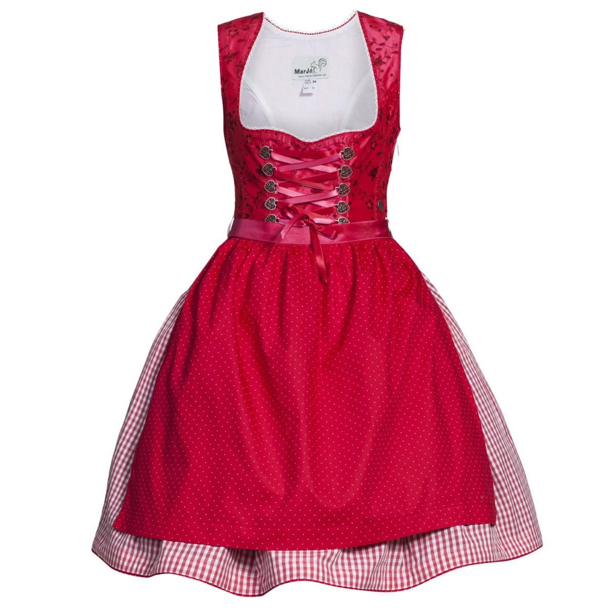 Mini dirndl jasmin in rot von marjo trachten ebay - Trachten finest ...