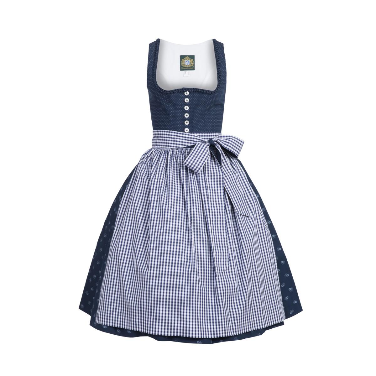 midi dirndl pillersee in blau von hammerschmid ebay. Black Bedroom Furniture Sets. Home Design Ideas