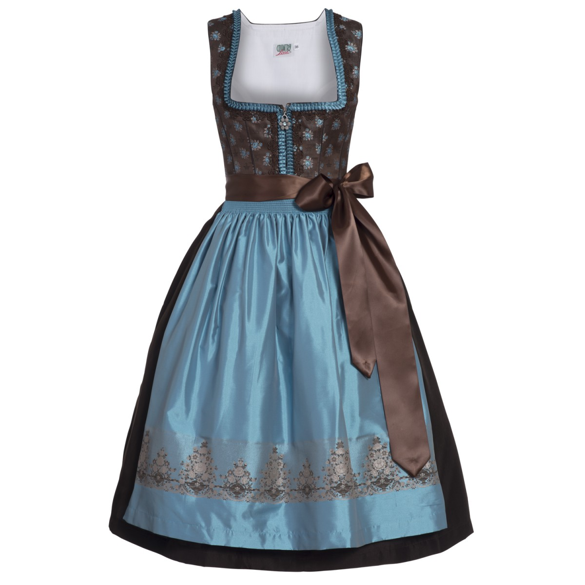 midi dirndl liesel in braun von country line ebay. Black Bedroom Furniture Sets. Home Design Ideas