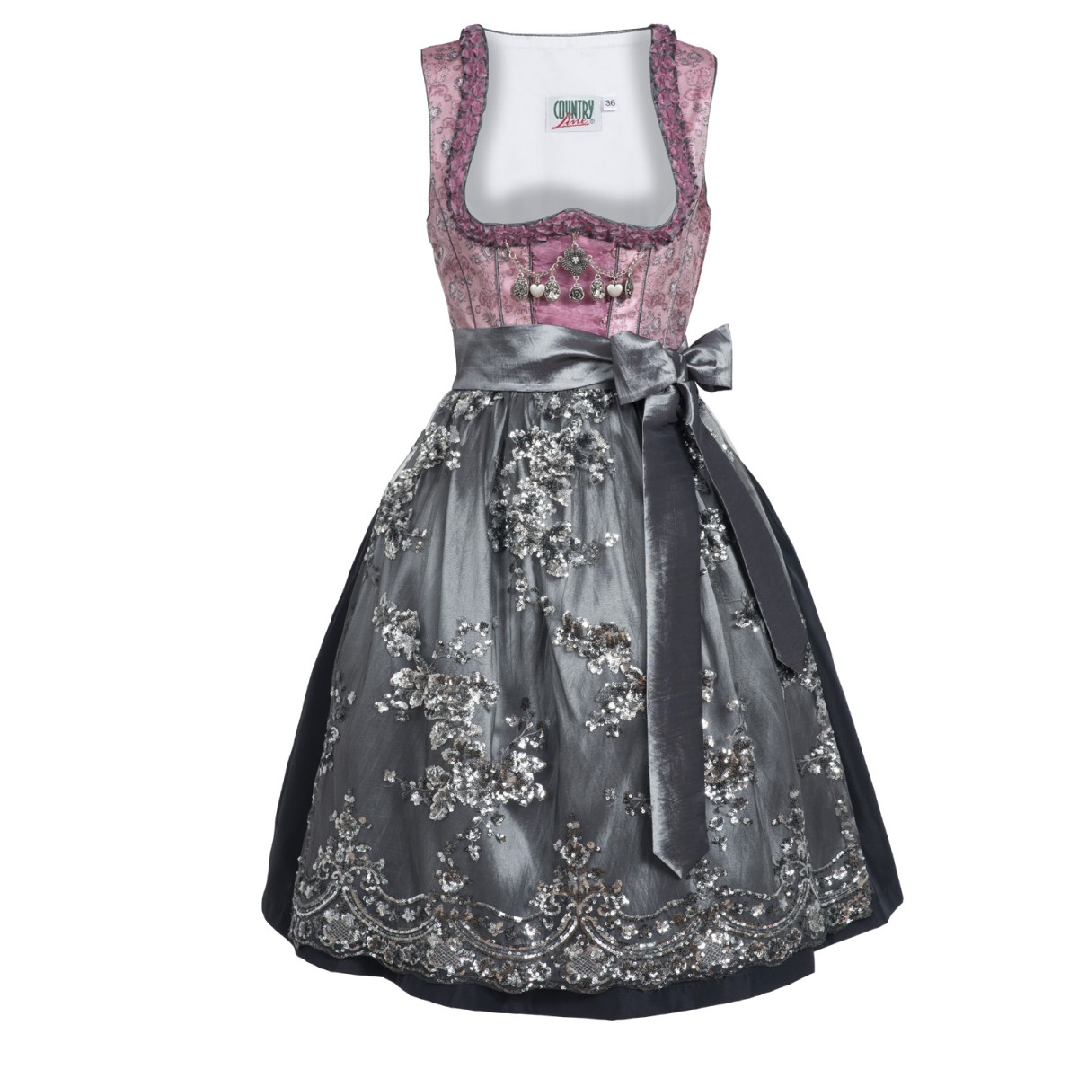 midi dirndl ina in rosa von country line ebay. Black Bedroom Furniture Sets. Home Design Ideas