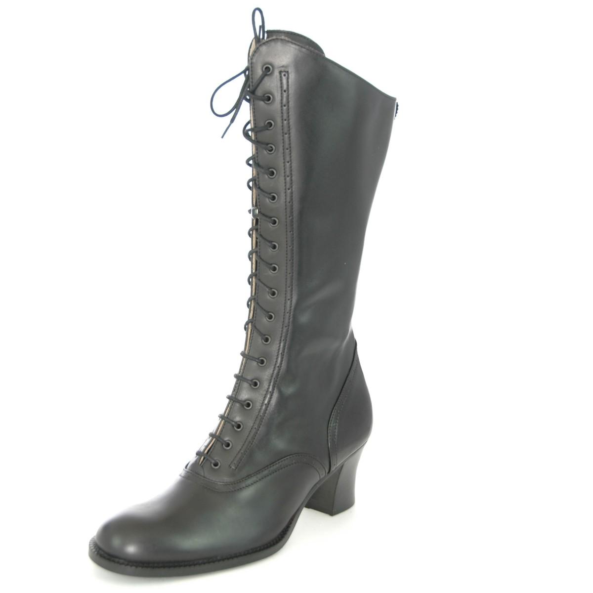 Glattleder stiefel in schwarz von dirndl bua ebay - Trachten finest ...