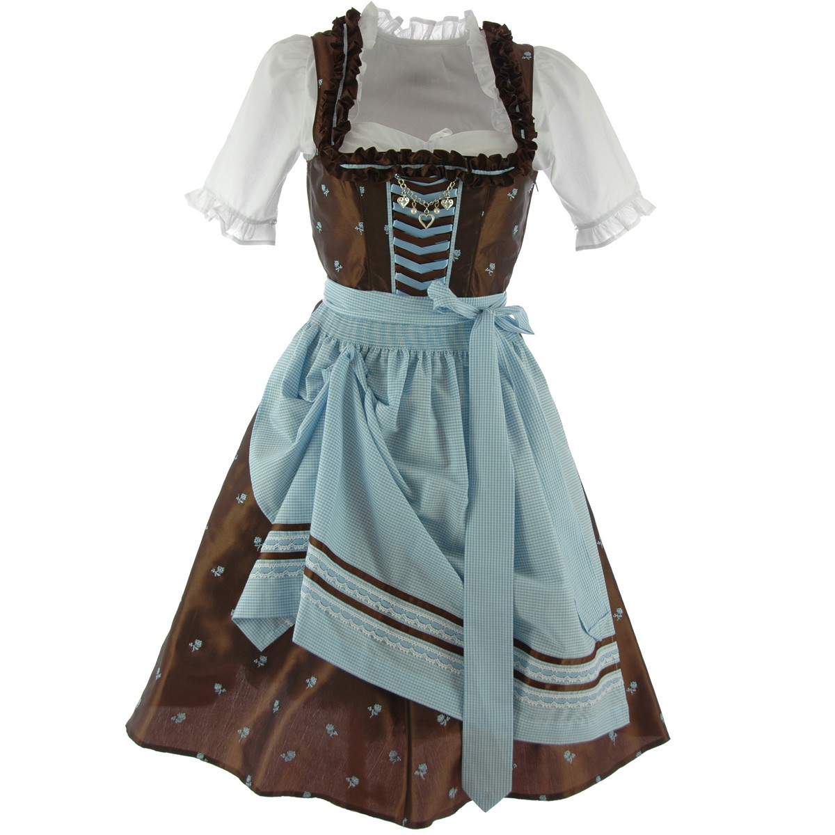 midi dirndl andrea in braun von country line ebay. Black Bedroom Furniture Sets. Home Design Ideas