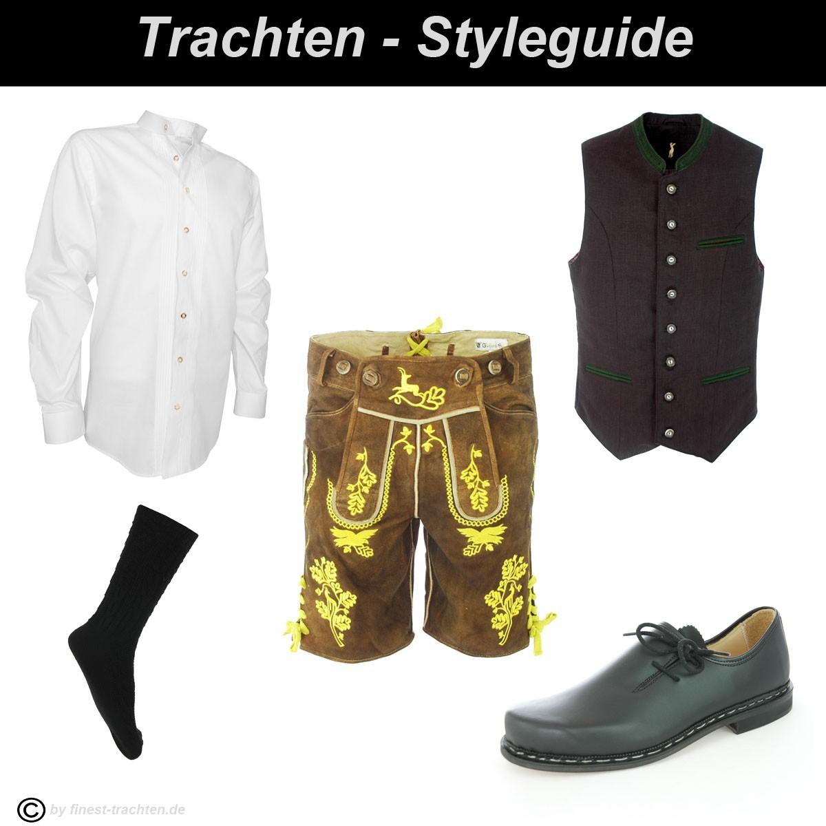 Kurze lederhose in braun von gweih silk steinadler ebay - Trachten finest ...