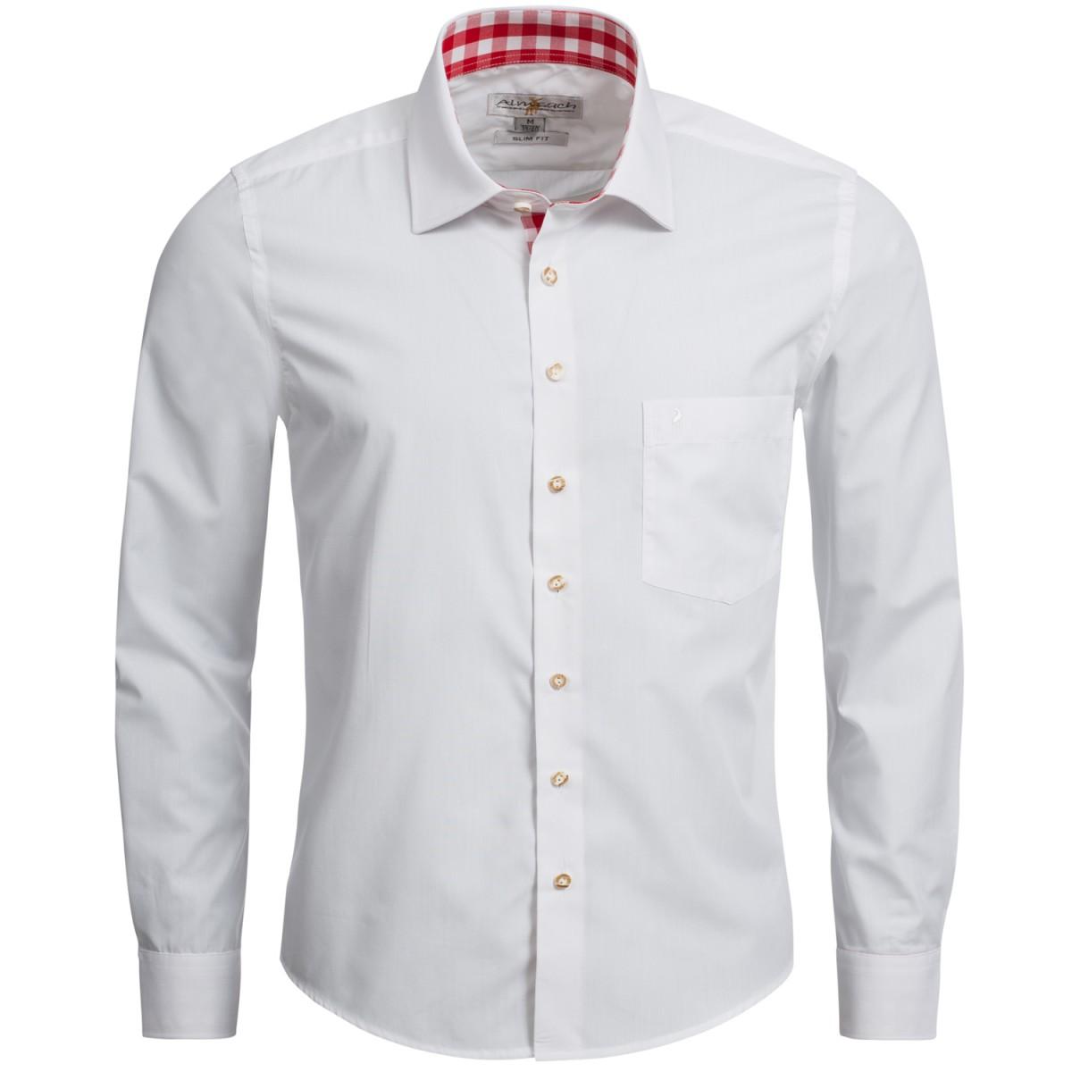 rot weißes Trachtenhemd von Almsach