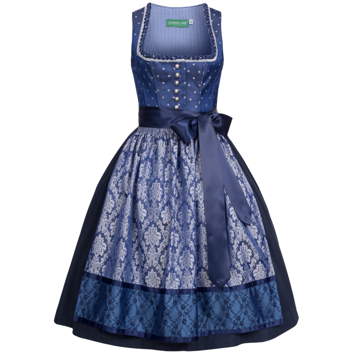 Blaues Dirndl Susanne on Country Line