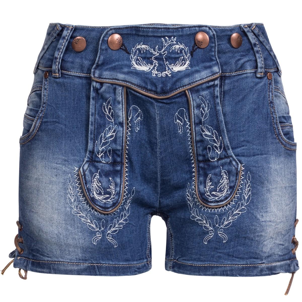 blaue Jeanslederhose von Hangowear