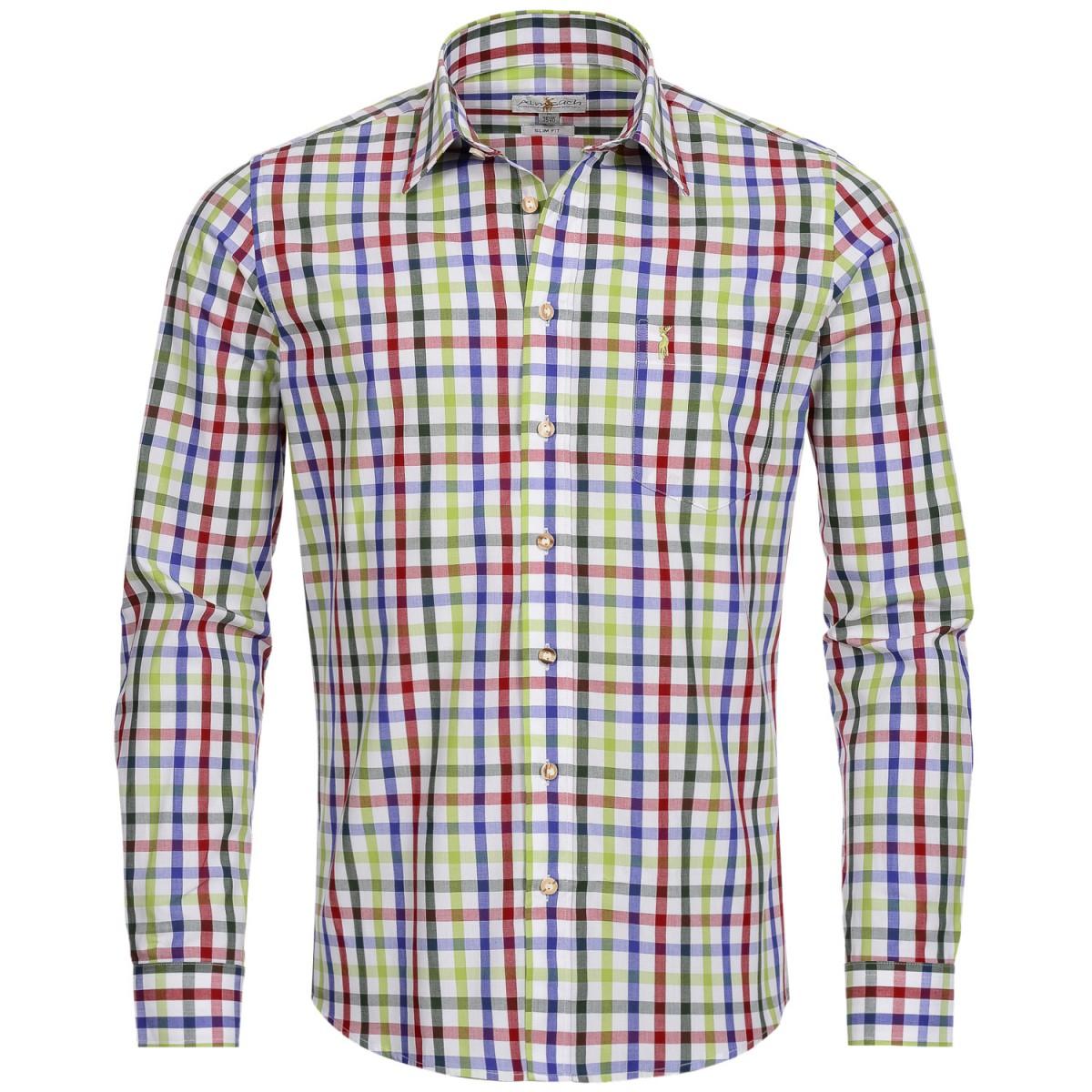 Buntes Trachtenhemd von Almsach