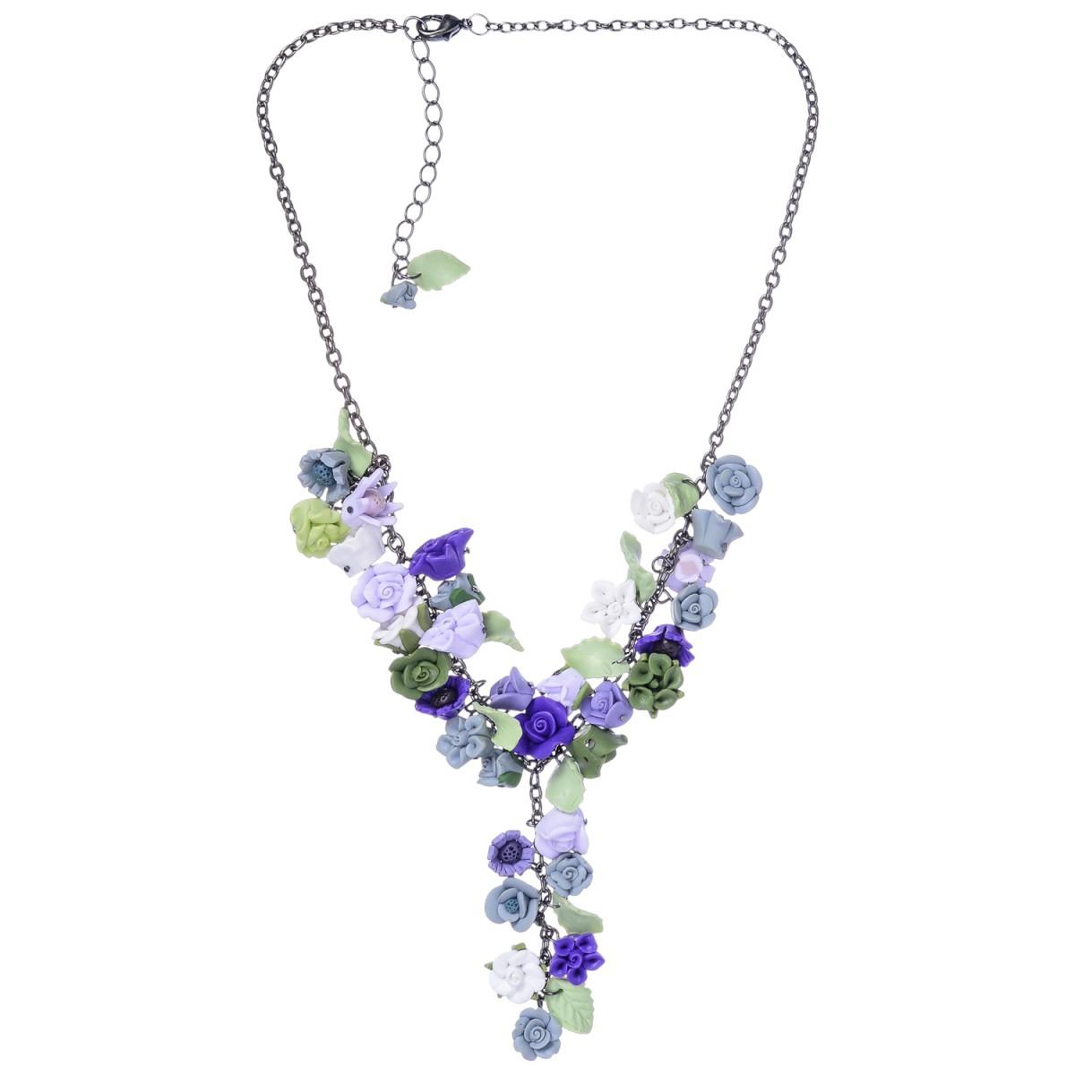 lila Halskette mit Rosen von Schlick