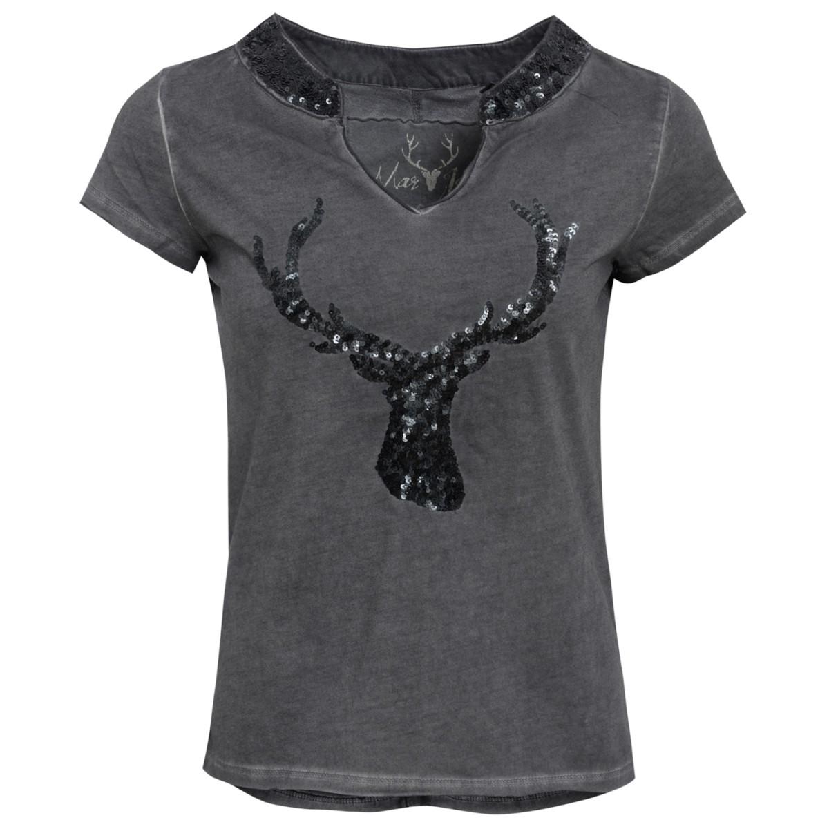 schwarzes Trachten T-Shirt