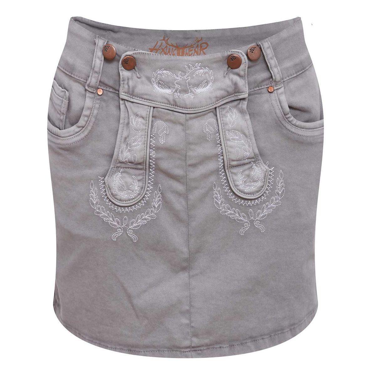 Jeans Lederhosenrock