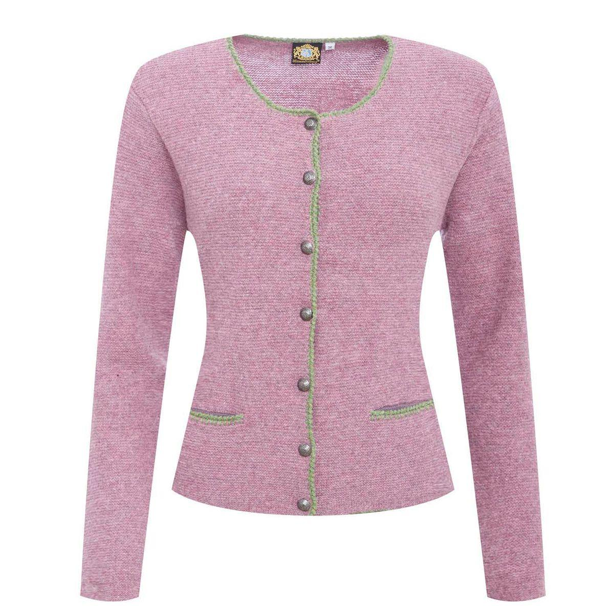 STrickjacke in Rosa