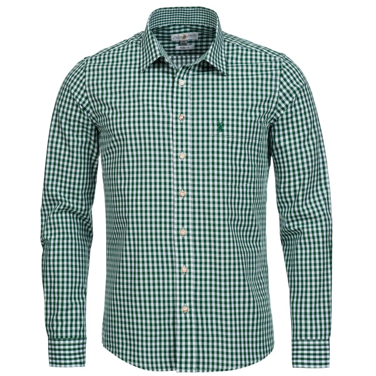 grünes Trachtenhemd von Almsach