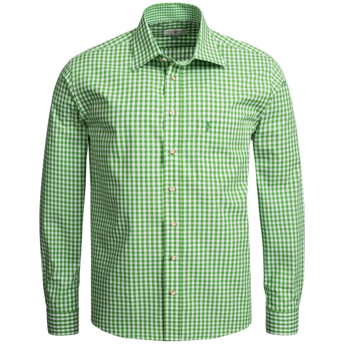 Hellgrünes Trachtenhemd kariert von Almsach