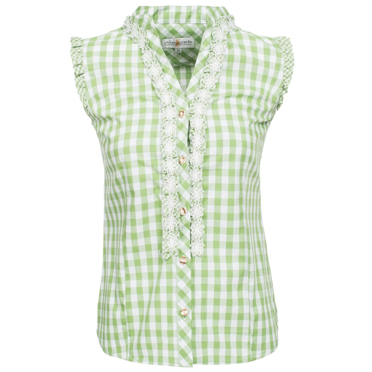 Grüne Trachtenbluse Lena von Almsach