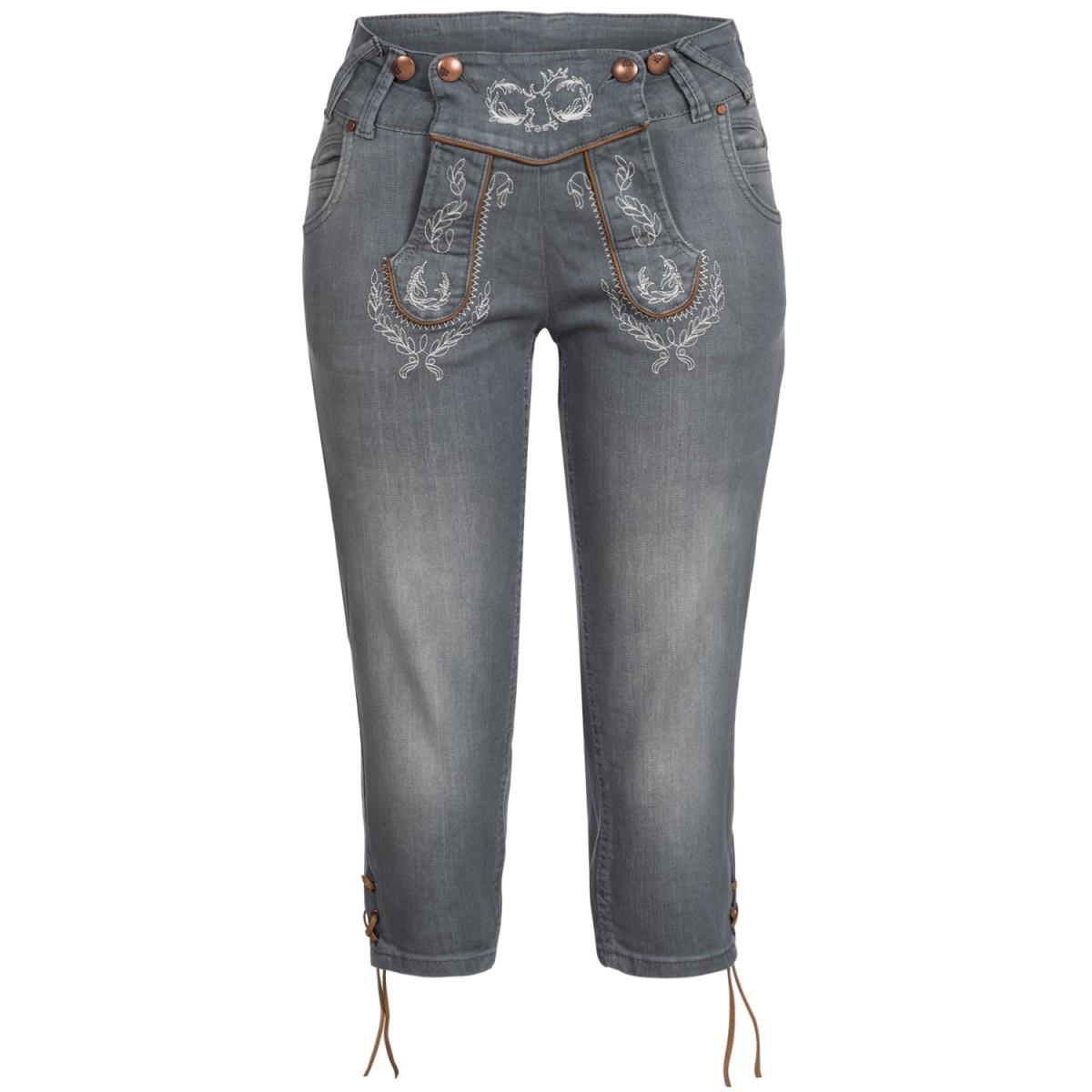 graue Jeanslederhose Anni von Hangowear