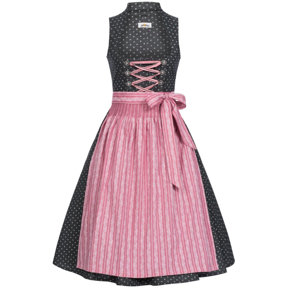 Dirndl grau rosa von Almsach