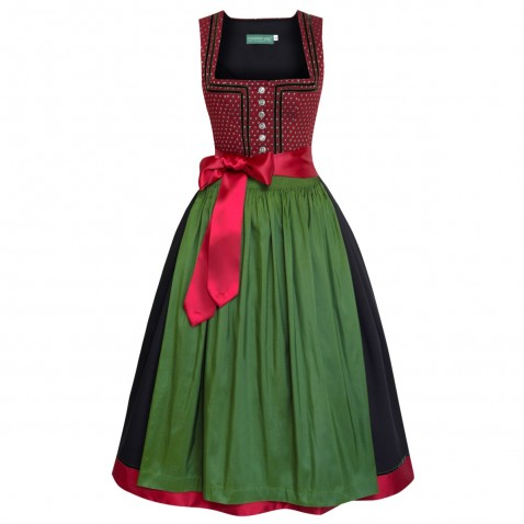 Langes Dirndl Hilde in Rot von Country Line