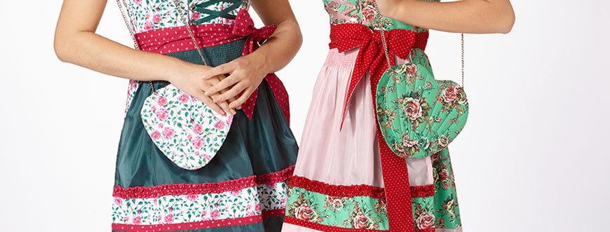 Moderne Trachtentaschen mit floralem Muster