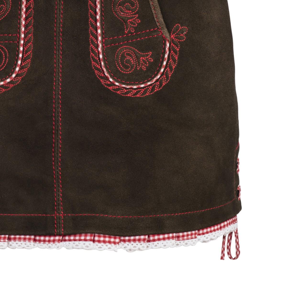 Lederhosenrock in braun von kr ger dirndl ebay - Trachten finest ...