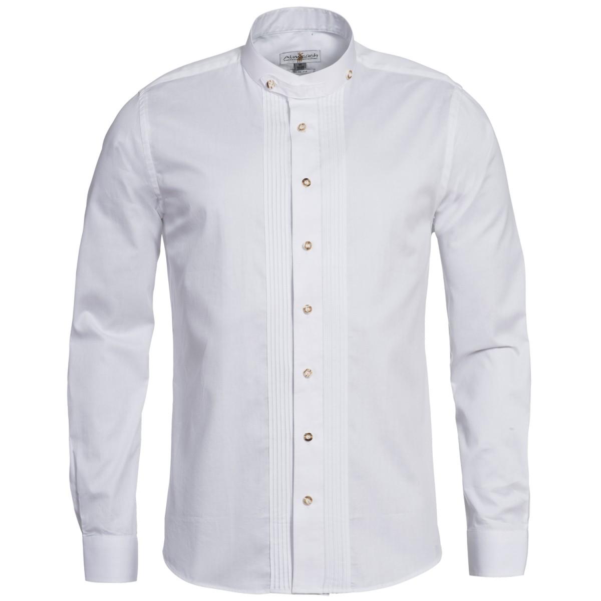 weißes TRachtenhemd mit Riegel von Almsach