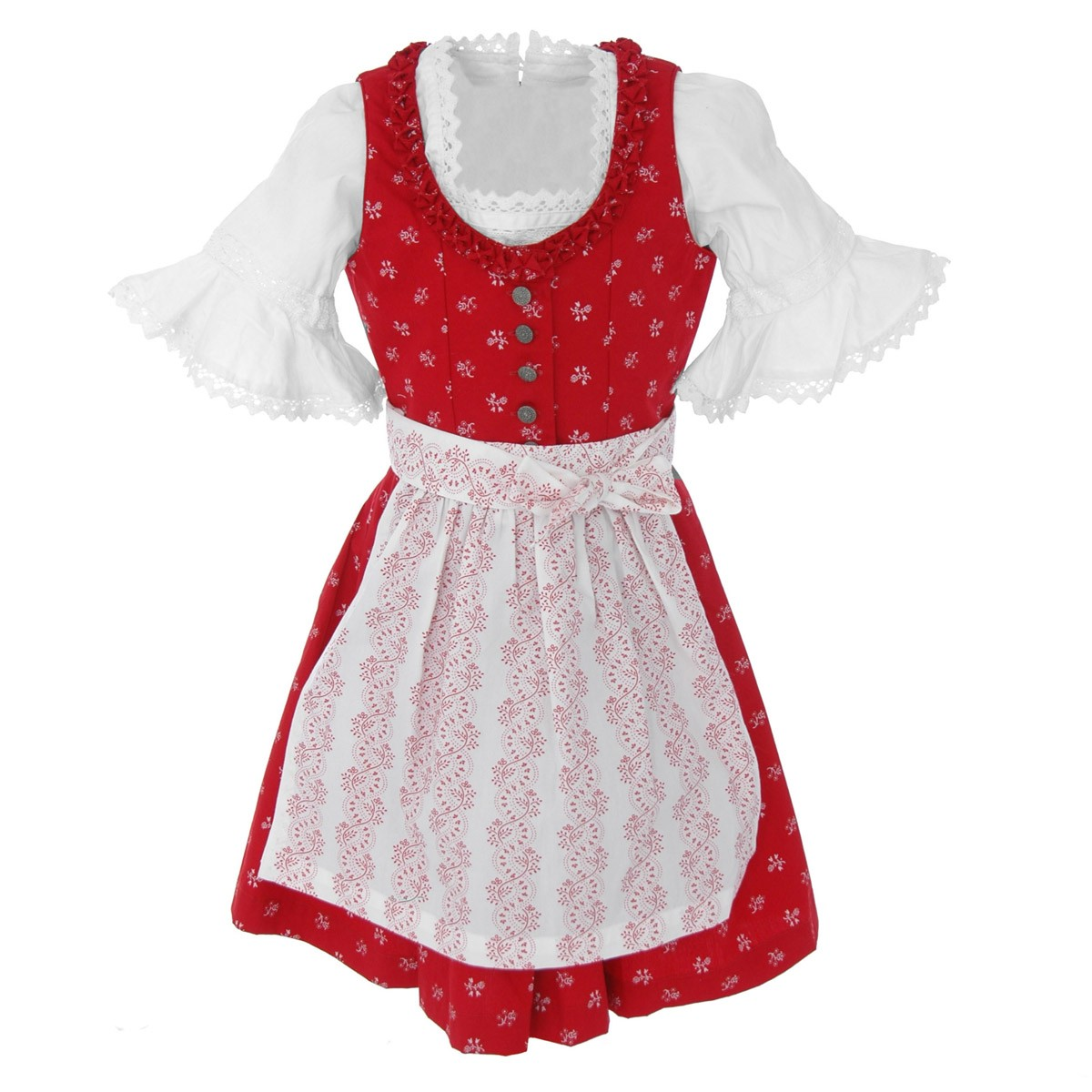Kinderdirndl in rot